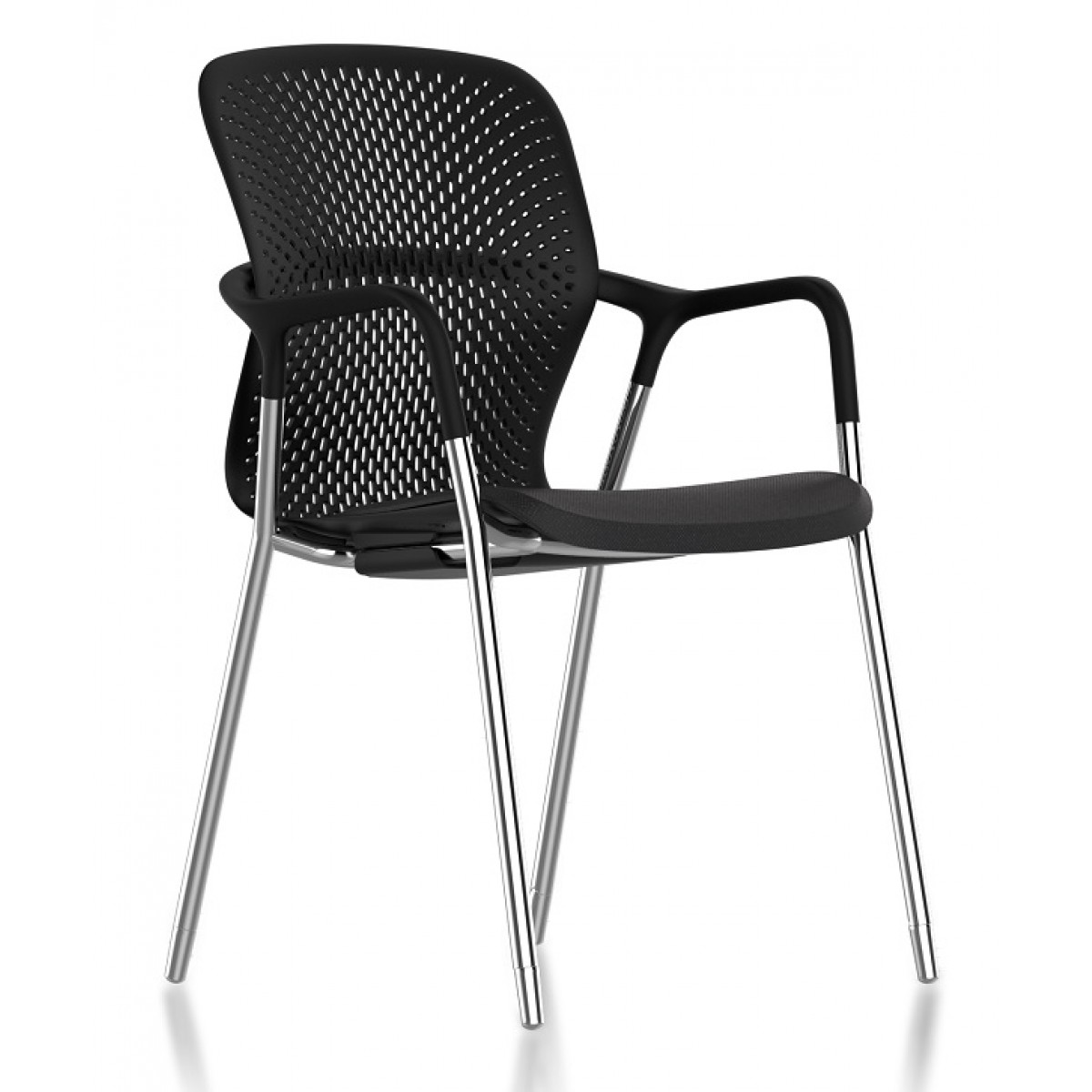 Beau Herman Miller Keyn Four Leg Chair Black