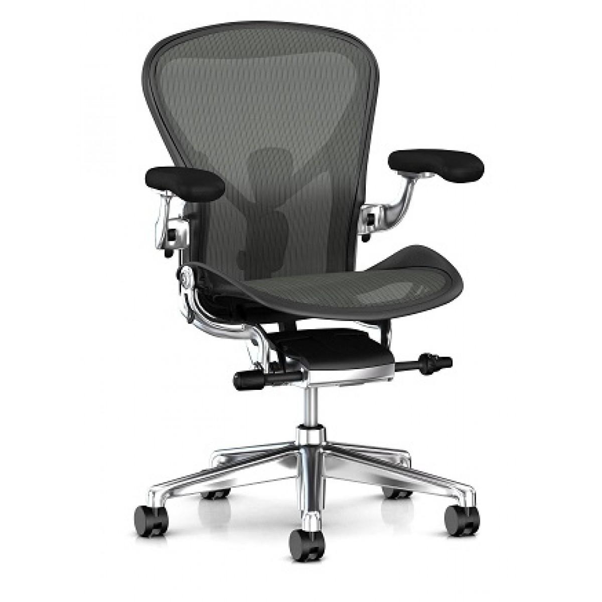 Office Furniture: Herman Miller Aeron Chair (Remastered) Graphite Executive