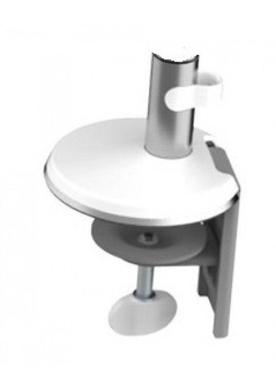 M2 Desk Clamp Polished with White Trim