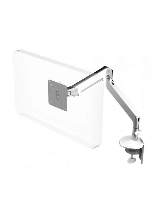 Humanscale M2 Monitor Arm Polished/White with Desk Clamp