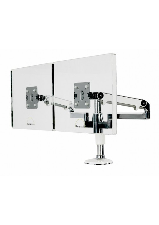 M Flex Dual Dynamic Arms Polished with White Trim