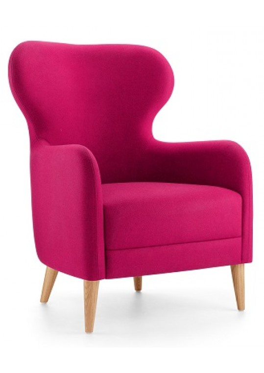 Lyndon Design Mrs Low Back Wing Chair Front