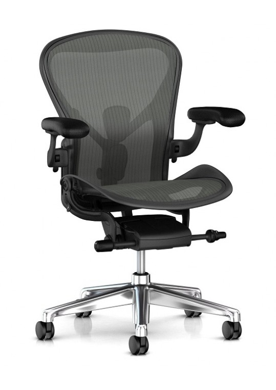 Aeron Chair with Polished Base Front