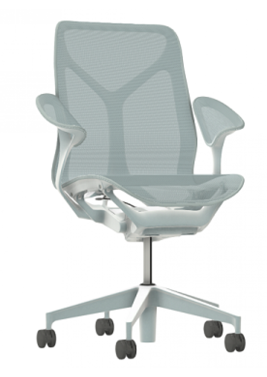 Herman Miller COSM Chair Mid Height Back Glacier Left