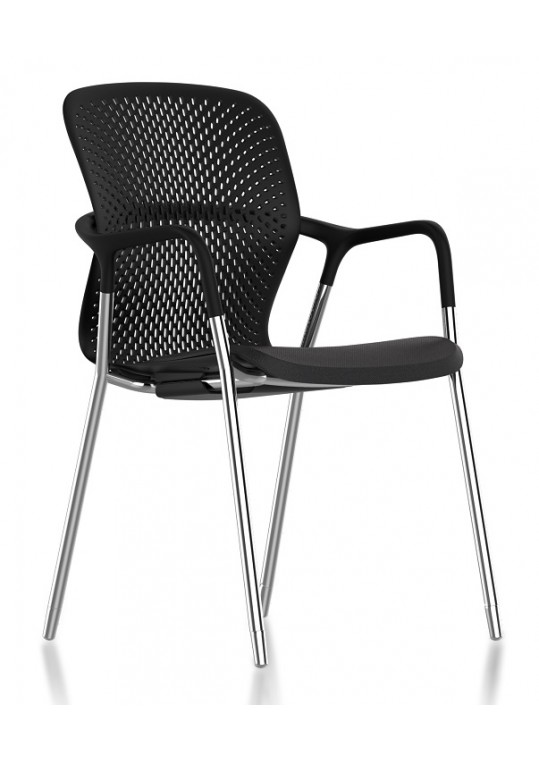 Herman Miller Keyn Four Leg Chair Black