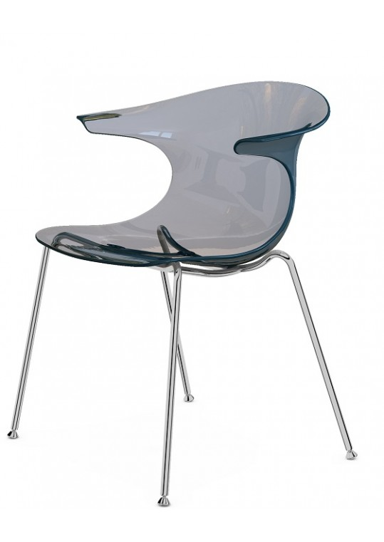 Komac Loop Chair Transparent Smoke Grey