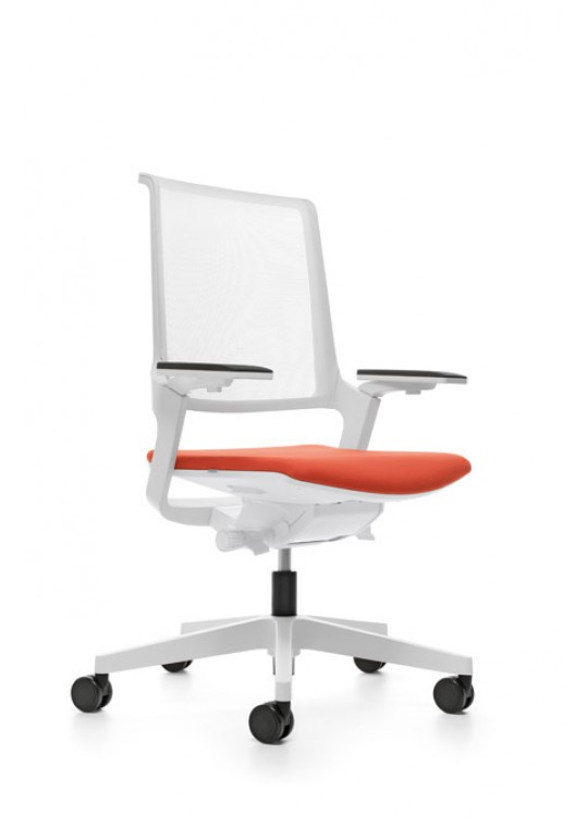 MOVYis3 White Frame with Height Adjustable Arms