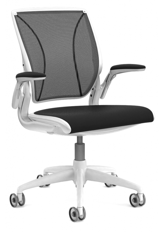 Diffrient World Chair - Black & White - 7 - 10 Working Day Delivery Lead Time