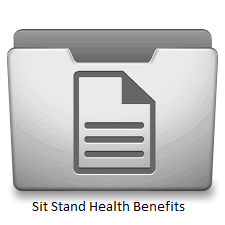 Sit Stand Health Benefits Icon
