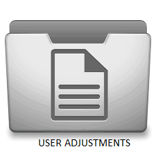 User Adjustment Manual