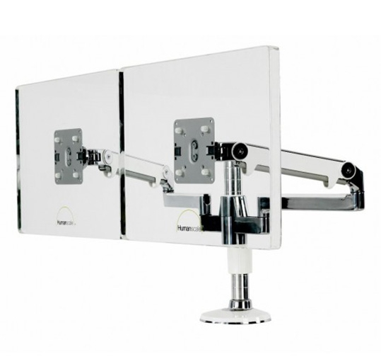 Dual Humanscale monitor arm