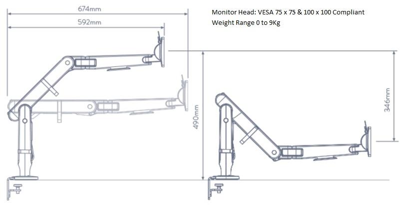 Ollin Monitor Arm Drawing